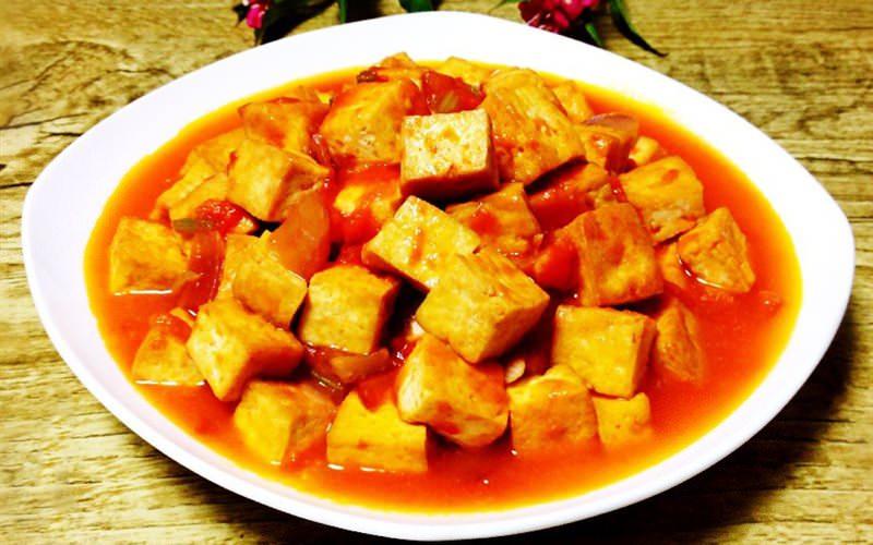 dau hu sot ca chua mon chay mien bac   Ănchay.vn : Ăn Chay, Công Thức Nấu Món Chay & Địa Điểm Ăn Chay